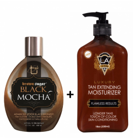 BLACK MOCHA 400ML + LA TAN EXTENDER 530ML ZDARMA