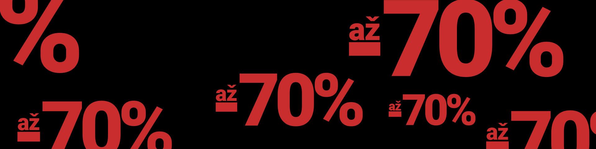 SLEVA AŽ - 70%